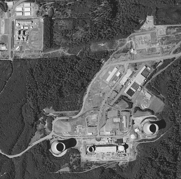 Satsop Nuclear Plant viewed from the air. Author:United States Geological SurveyPublic Domain