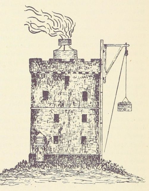 The coal-fired beacon. Author:The British Library (Original) Wolfymoza (Commons upload)No restrictions