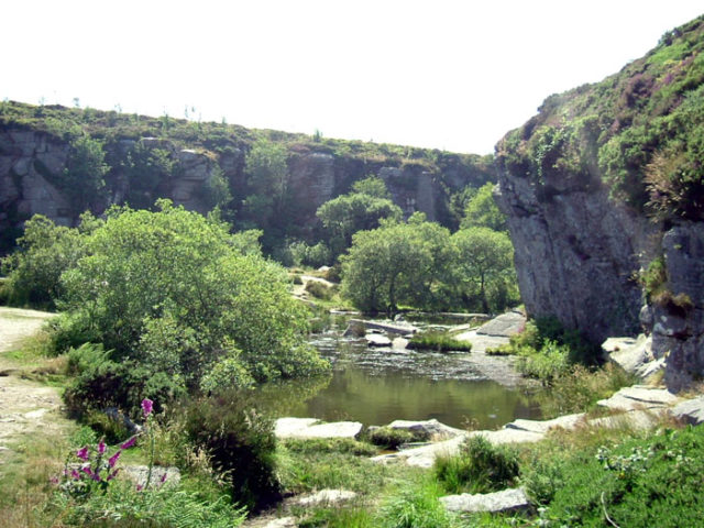 The Haytor quarry today.Author:SteinskyCC BY-SA 2.5