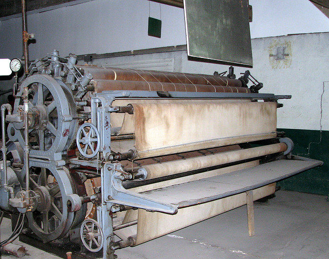The prison laundry equipment. Author:ChristopherCC BY-SA 2.0