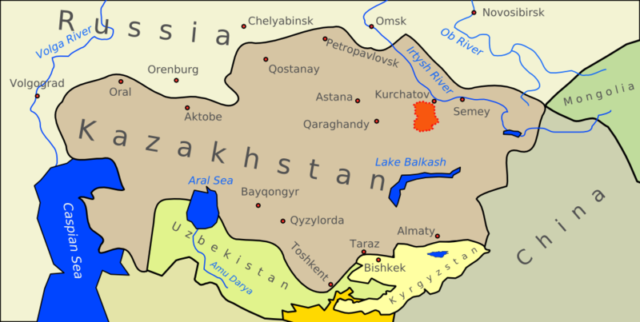 The test site is shown in orange. Author:Finlay_McWalterCC BY-SA 3.0