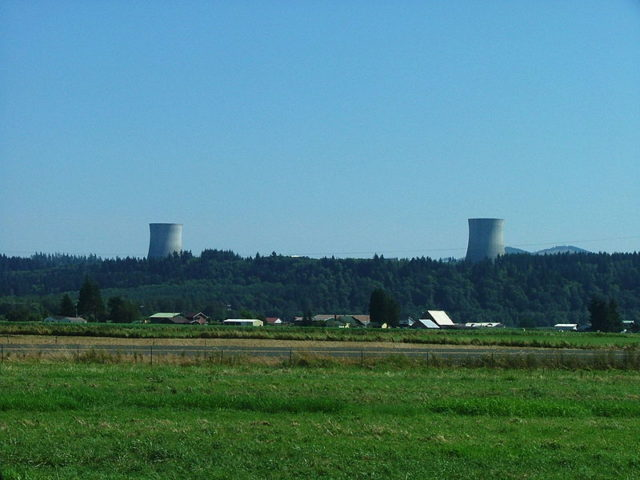 The towers clearly visible from the distance. Author: