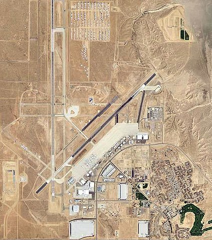 Aerial photograph of George Air Force Base, 2006.