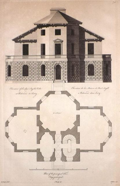 Asgill House blueprint. Author:Colen CampbellPublic Domain