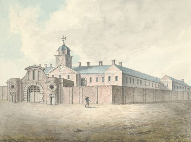 Drawing of the prison 1796. Author:John Ingleby