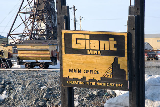 Giant mine main office. Author: Marke Clinger CC BY 2.0
