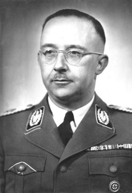 Heinrich Himmler. Author:Bundesarchiv, Bild 183-S72707CC BY-SA 3.0 de