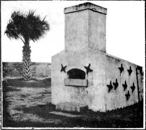 Hotshot furnace used to heat cannonballs. Author:United States National Park Service