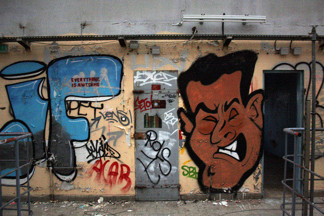 One of the graffiti. Author:jolienvandegriendtCC BY-SA 2.0