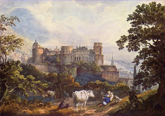Painting by Karl Philipp Fohr depicting the castle. Author:Karl Philipp Fohr