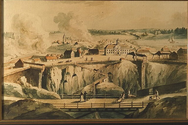 Painting of the mine and the fumes. Author:Bengt A Lundberg / RiksantikvarieämbetetCC BY 2.5