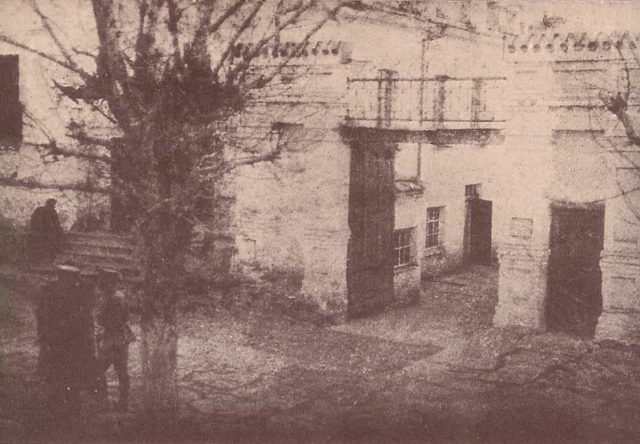 The gates of the house.
