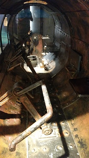 The interior of the sub. Author:Pi3.124CC BY-SA 4.0
