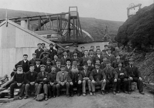 The miners in 1897. Author:Unknown – Harvey MilliganPublic Domain