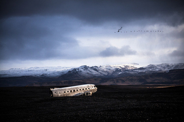 The plane crash photographed from a distance. Author:Daniel SjöströmCC BY-ND 2.0