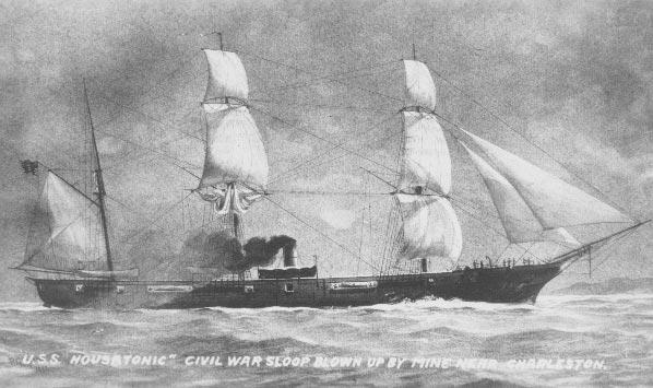 USS Housatonic. Author:PMGPublic Domain