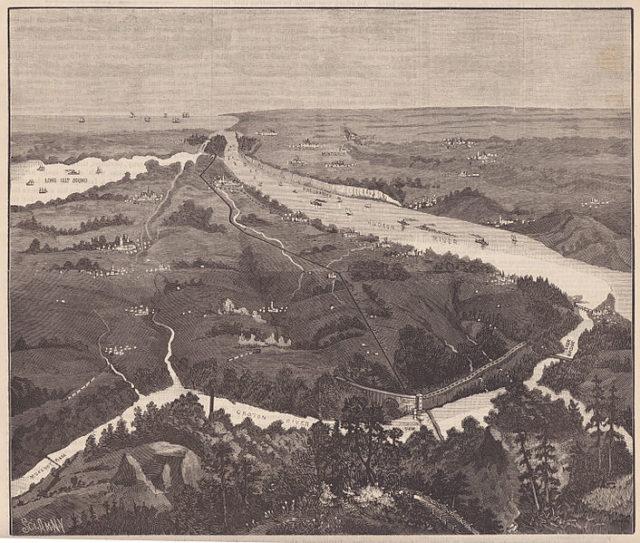 1887 engraving from Scientific American depicts the Croton Aqueduct. Author:Scientific AmericanPublic Domain