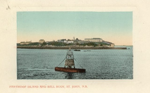 1905 postcard showing Partridge Island/ Author:Pennfield and Saint George Telephone Co., Inc