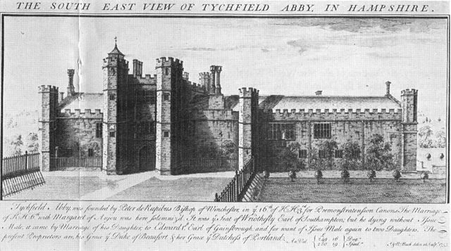 Illustration of the palace, 1733
