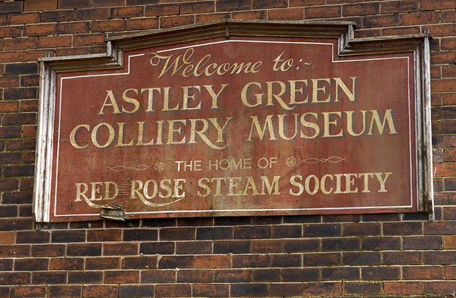 Astley Green Colliery Museum sign/ Author:Dave GreenCC BY-SA 2.0
