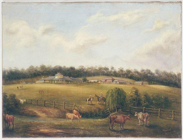 Bungarribee estate 1858/ Author:Fowles, Joseph (1810-1878)