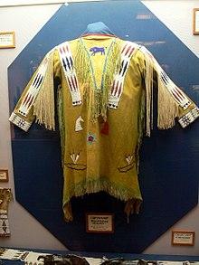 Cheyenne hide shirt. Author:Wolfgang SauberCC BY-SA 3.0