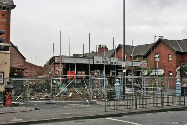 Cine City demolished/ Author: Mike PeelCC BY-SA 4.0