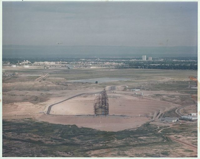 During construction.Author:USAF
