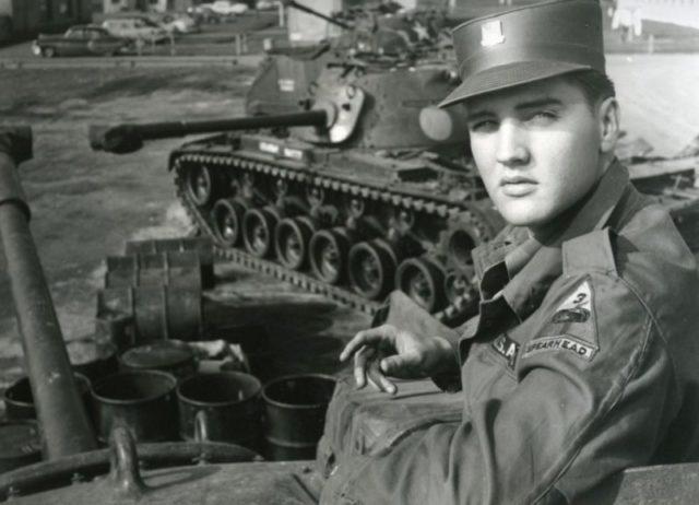 Elvis part of the army. Author:Vittoriano RastelliPublic Domain