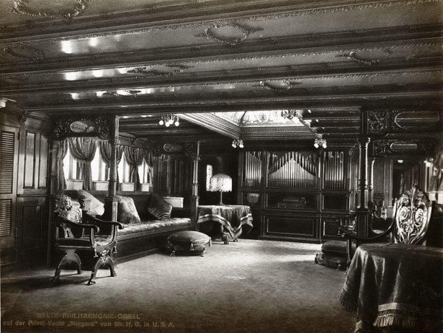 Gould's yacht Niagara.Author:Unknown – Firmenkatalog von Welte & Söhne, 1914