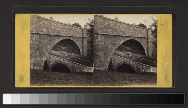 Historic Photo of the aqueduct. Author:Scan by NYPLPublic Domain
