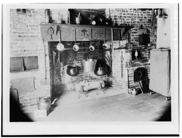 Historical photo of the interior of the house