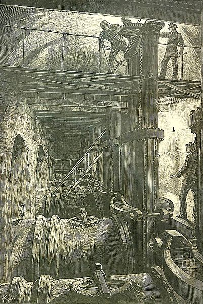 Shutting off the Croton from Harper's Weekly. Author: NorotonPublic Domain