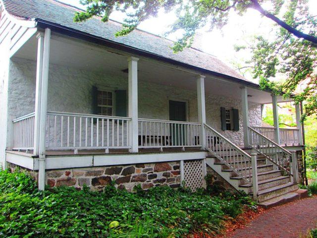 The backdoor porch