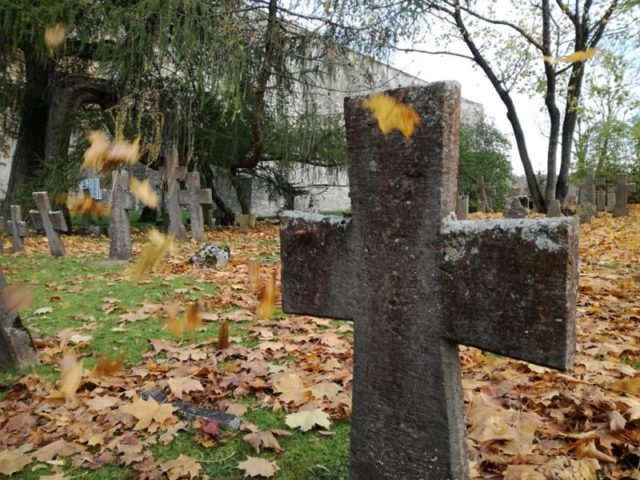 The convent was abandoned but the graveyard continued to be used