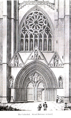 The west facade before the Reformation