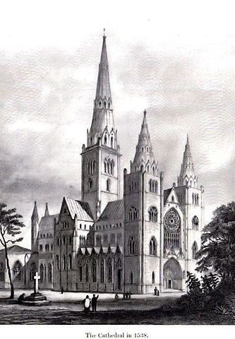 A painting which depicts the cathedral at its zenith