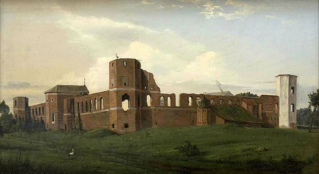 A painting of the castle from 1853 by Vincentas Dmachauskas