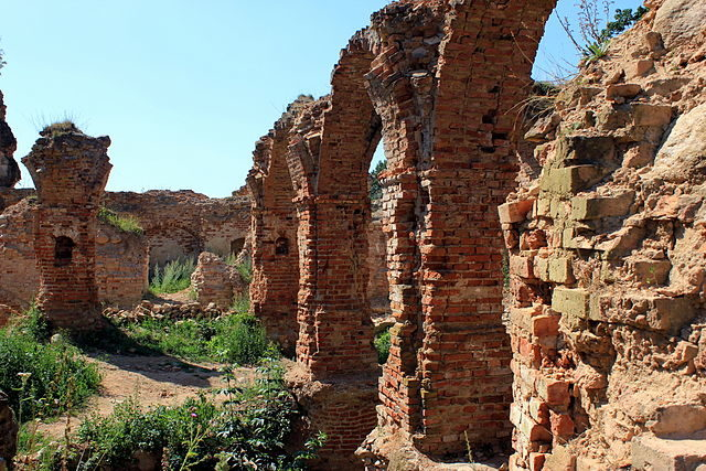 The ruins are overgrown with vegetation/ Author: Julian Nitzsche – CC BY-SA 4.0
