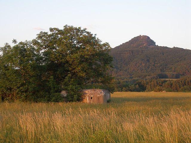 Light pillbox near Srní Potok,Czech Republic