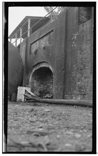 Detail of a castle wall. Author:Historic American Buildings SurveyPublic Domain