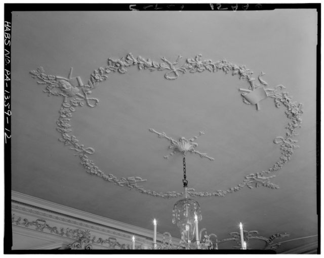 Detail of ballroom ceiling. Author:Library of Congress Prints and Photographs Division Washington