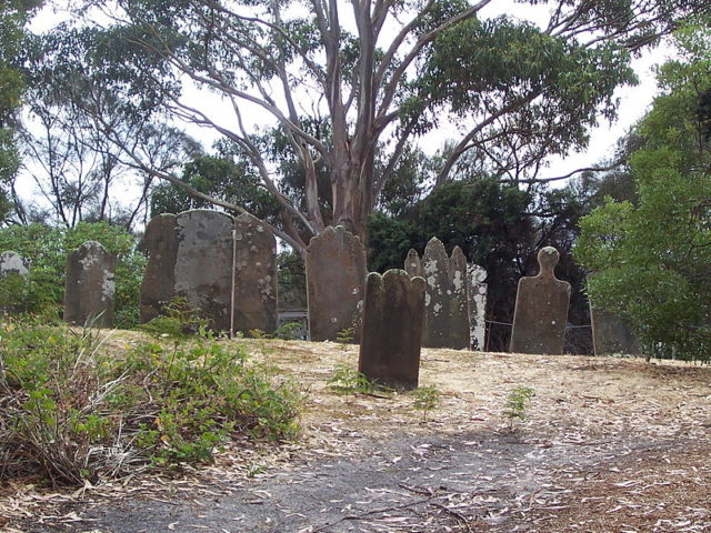 Graves on the Isle of the Dead/ Author:Star reborn – CC BY-SA 3.0