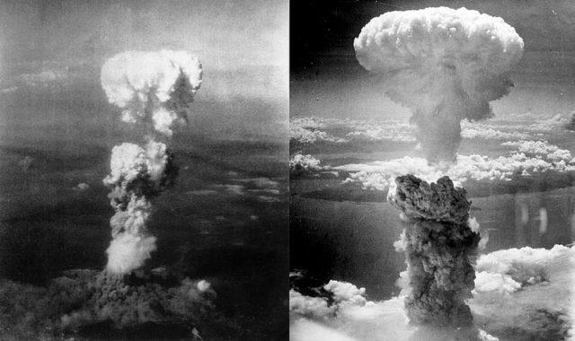 Hiroshima (left) and Nagasaki (right)/ Author: Charles LevyCC BY-SA 3.0