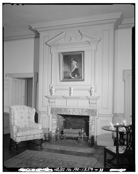 Old photo of the fireplace. Author:Library of Congress Prints and Photographs Division WashingtonPublic Domain