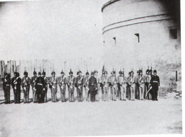 Part of the army garrisoned in the castle. Author:Unknown – USAMHIPublic Domain