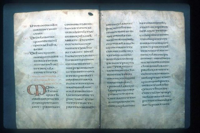 Rule of Saint Benedict. Author:Bodleian library in OxfordPublic Domain