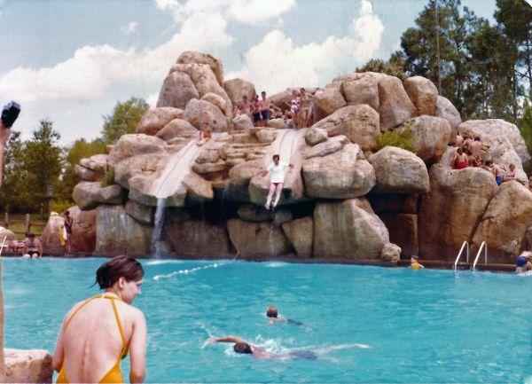 Slippery Slide Falls when it was in use