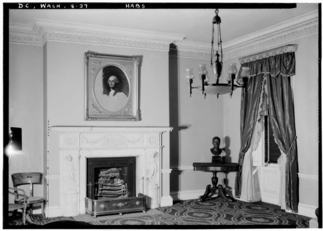 The interior of the house in 1936/ Author: Library of Congress Prints and Photographs Division Washington