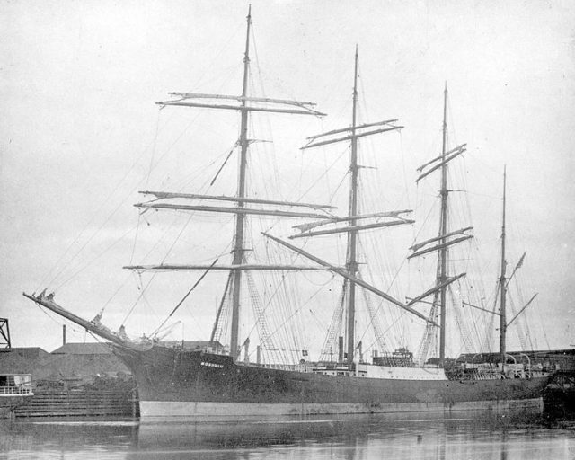 The ship in 1904/ Author: State Library of Victoria, Malcolm Brodie shipping collection